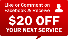 Like or Comment on Facebook and Receive $20 Off Your Next Service